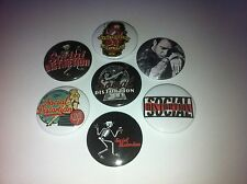 7 Social Distortion badges 25mm Mike Ness Ball and Chain Angel's Wings Punk
