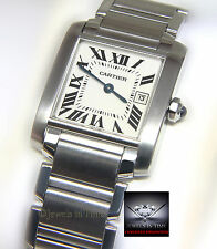 Cartier Tank Francaise Stainless Steel Quartz Ladies Midsize Watch 2465