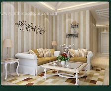 Holiday Cottage Theme- 10M x 0.53M Beige Timber Panel Backdrop Bedroom Wallpaper