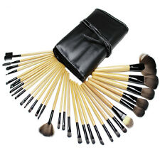 32 PCS Wood Makeup Brush Brushes Kit Professional Cosmetic Make Up Set Kit UK