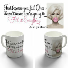 MARILYN MONROE FAIL FAMOUS QUOTE COFFEE MUG TEA CUP BIRTHDAY CHRISTMAS GIFT