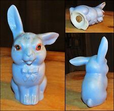 Salière en porcelaine Lapin Bleu art déco 1930-50