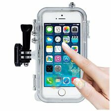 Wide Angle Lens Waterproof Case Touch PC Film Holder Mount For iPhone 5 5s SE