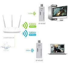 Dual Band 5.8G 2.4G 802.11ac Wireless WiFi Adapter Up to 1200Mbps USB 3.0 Dongle