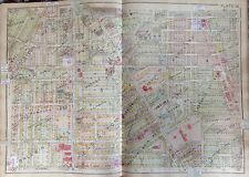 ORIG 1930 OLD WEST END HOLY ROSARY CATHEDRAL TOLEDO OHIO ATLAS MAP 23x32