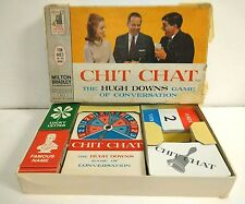 Vintage 60s CHIT CHAT HUGH DOWNS CONVERSATION Game Milton Bradley 1963 Board