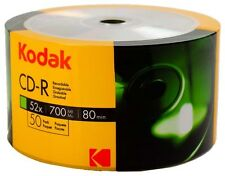 100 Kodak CD-R 52X Logo Branded CD-R CDR Blank Disc Media 700MB