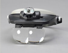 3 LED Dental Surgical Loupe Adjustable Magnifying Glass Watch Repair Reading