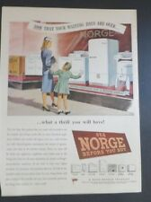 Original Print Ad 1946 See NORGE before You Buy Appliances Better World Products