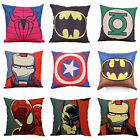 Avengers Superhero Cotton Lined Pillow Case Sofa Waist Cushion Cover 45cm * 45cm