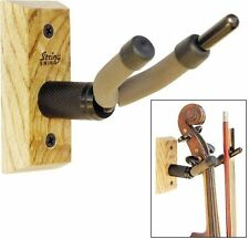 String Swing Violin/Viola Hanger with Oak Hardwood Base