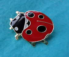 ZP222 Ladybird Insect Enamel Lapel Pin Badge Brooch High Gloss Finish Lady Bug