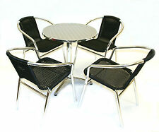 Black Rattan Bistro Furniture - Cafe table and chairs - Cheap Garden Furniture