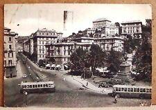 Genova - Piazza Tommaseo e monumento al Gen. M.Belgrano [grande, b/n, viaggiata]