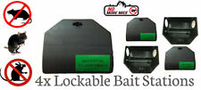 4X LOCKABLE RODENT KILLER POISON BAIT STATION BOX TRAP RAT MICE MOUSE VERMIN
