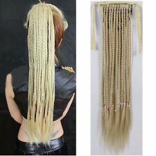 Long Curly Braids Ponytail Hair Extensions Hairpiece Clip on Wrap Hair 5 Colors