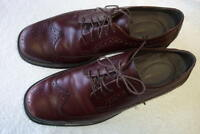 Rockport Beautiful Men's  WING TIP Dress shoes, size 11.5, OxBlood