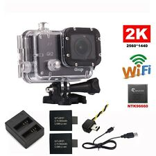 16M Ultra 2K Gitup Git2 WiFi 1080P Action Sports Camera Video+Battery+FPV+Charge
