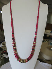 "CHICO'S 38"" CORAL NECKLACE  NWOT"