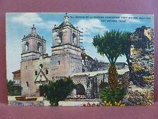 Old PC TX San Antonio Mission De La Purisima Conception First Mission