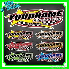 """10 6"""" Custom Your Name Motorsports Decals Trailer Car IMCA Model Modified Sprint"""