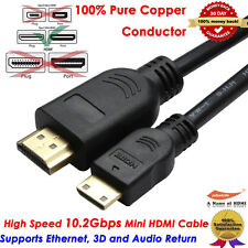 YellowKnife Gold HDMI Mini to HDMI Digital Video Cable 1080p Type A to C, 3FT