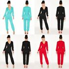 Evening Cocktail Lady's V-neck Bodycon Pants Trousers Jumpsuit Rompers Clubwear