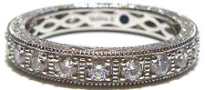 GREAT VANNA K STERLING SILVER STACKABLE STACKING CZ ETERNITY RING BAND SIZE 10
