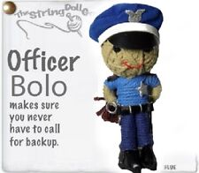 Kamibashi Police Officer Bolo The Original String Doll Gang Keychain Clip