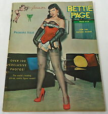 1963 ~ Focus On BETTIE PAGE premiere issue ~ stockings, garters, high heels