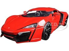 "LYKAN HYPERSPORT RED ""FAST & FURIOUS 7"" MOVIE 1:18 MODEL BY JADA 97388"