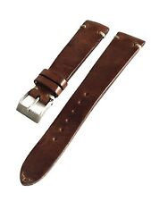 20mm Jean Paul Menicucci Vintage Brown Italian Handmade Leather Watch Strap JPM