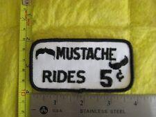 Vintage Mustache Rides 5 Cents Patch