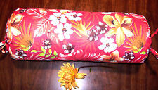 "Handmade Neck Roll Case Cover for Bolster Pillow_6""x16""_Red Hawaiian Tropical"