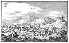 MAP ANTIQUE MERIAN 1645 WEINHEIM CITY PLAN OLD LARGE REPRO POSTER PRINT PAM1071