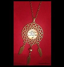 "JOHNNY CASH ""I KEEP A CLOSE WATCH ON THIS HEART OF MINE"" DREAMCATCHER NECKLACE"