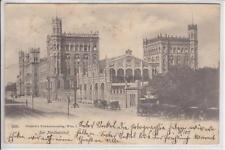 AK Wien II, Nordbahnhof, Fiaker 1901