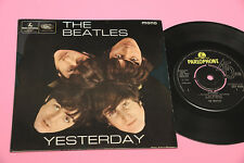 BEATLES EP YESTERDAY 4 CANOZNI ORIG UK 1965 MONO EX+ TOP RARE COLLECTOR NO LABEL