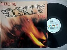 DISCO LP Y&T - OPEN FIRE: LIVE - 1985 A&M RECORDS 395 076-1 GER - NM/VG+ Y & T