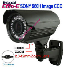 "1/3"" SONY 960H CCD Effio-E WaterProof Outdoor Night Vision IR BULLET CCTV Camera"