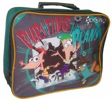 Disney Phineas and Ferb Insulated Lunch Bag School Bursting with Plans