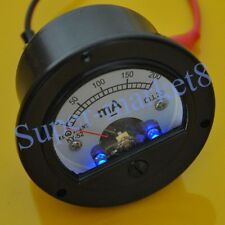 200mA DC Panel Meter With Blue Back Light for 300B 2A3 KT88 45 Tube Amplifier