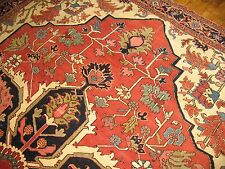 Antique Persian Heriz Serapi Rug Size 9'9''x12'11'' World Class