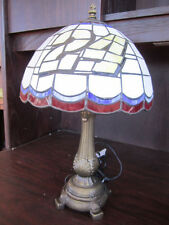 JEFF GORDON 24 Tiffany Stained Glass Table Lamp NEW IN BOX NASCAR defect