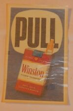 Old Winston Cigarettes advertising Store Door Push Pull Sign MINT FREE SHIPPING