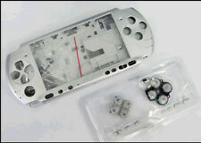 A Silver Full Housing Shell Case Cover Faceplate Buttons f Sony PSP3000 PSP 3000