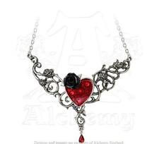 Official Alchemy Gothic The Blood Rose Heart Pendant - Necklace Jewellery