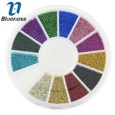 Blueness 1 Wheel Multi 3D Nail Art Resin Caviar Ball Rhinestones Manicure ZP206