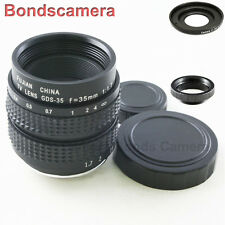 35mm F/1.7 C mount CCTV lens for Micro 4/3 M43 Olympus E-P1 PL3 Panasonic G1 GX1