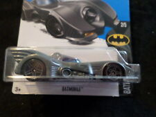 HW HOT WHEELS 2017 HW BATMAN #2/5 BATMAN BATMOBILE GRAY HOTWHEELS VHTF DC COMICS